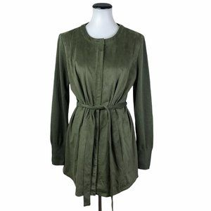 H By Halston Faux Suede Jacket 14 #175